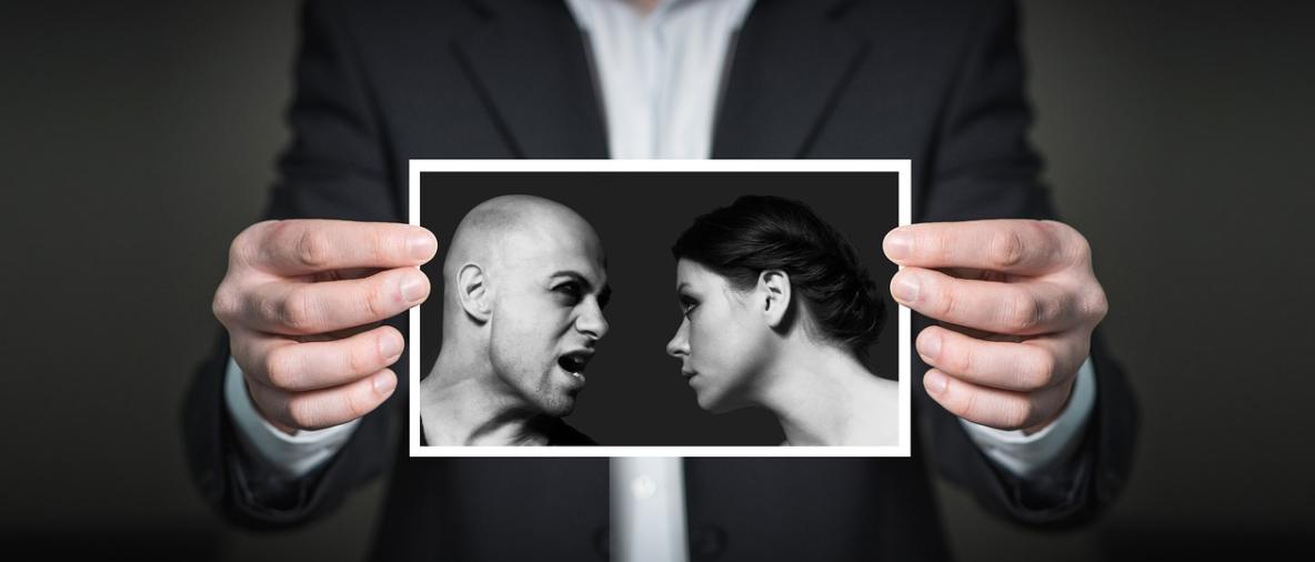 hádka muže a ženy